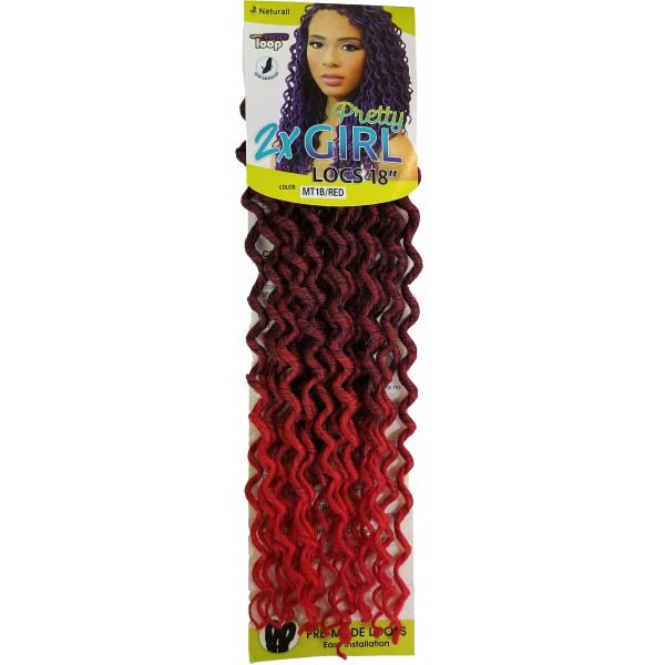 URBAN BEAUTY natte 2x PRETTY GIRL LOCS 18""