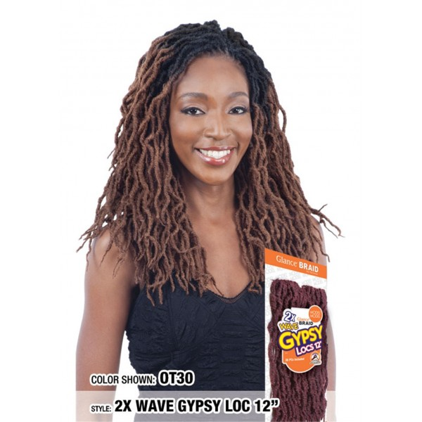 MODEL natte 2*WAVY GYPSY LOCS 12'' (Loop)