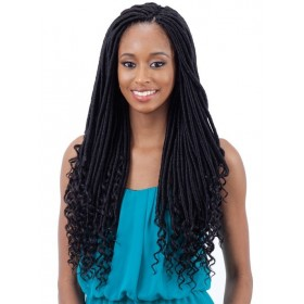 "FREETRESS natte STRAIGHT GODDESS (Gorgeous) LOC 18"" (Loop)"