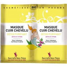 Masque cuir chevelu DÉTOX BIO 2 doses de 8g