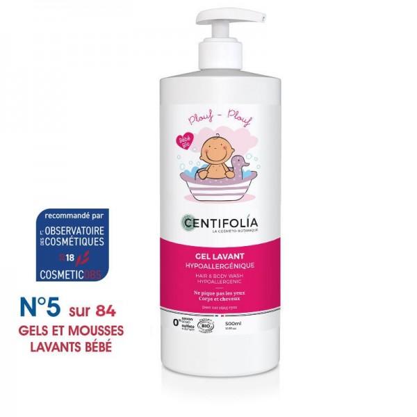 CENTIFOLIA Gel lavant corps et cheveux hypoallergénique pour bébé BIO 500ml
