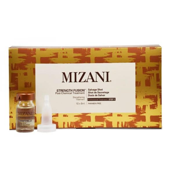 MIZANI Traitement intensif pour cheveux endommagés STRENGTH FUSION 10x6ml
