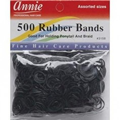 Black elastic bands x500