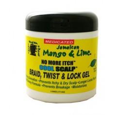 JAMAICAN MANGO & LIME Gel pour nattes, torsades & locks MENTHE & OLIVE COOL SCALP 170g