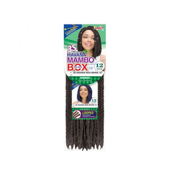 JANET natte 3S HAVANA BOX BRAID 12""