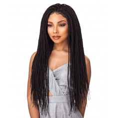 SENSAS perruque nattée BOX BRAID SMALL (Swiss Lace)
