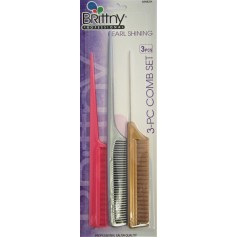 Pack 3 Pearl Shining Combs