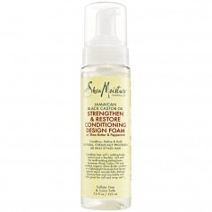 SHEA MOISTURE Mousse coiffante RICIN Black Castor Oil 222 ml ( Strengthen & Restore Conditioning Design Foam)