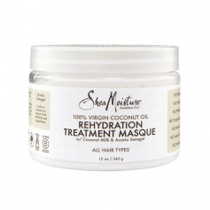 Masque capillaire 100% VIRGIN COCONUT OIL 340g (Rehydration Masque)