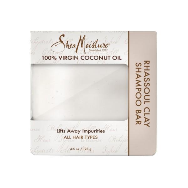 SHEA MOISTURE Shampooing solide 100% VIRGIN COCONUT OIL 128g (Rhassoul Clay Bar)
