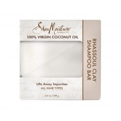 Shampooing solide 100% VIRGIN COCONUT OIL 128g (Rhassoul Clay Bar)