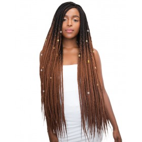 "JANET natte 3S HAVANA BOX LONG BRAID 36"" (Loop)"