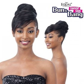 EQUAL postiche + frange TWISTED BUN BANG 2pcs (Swoop Side)