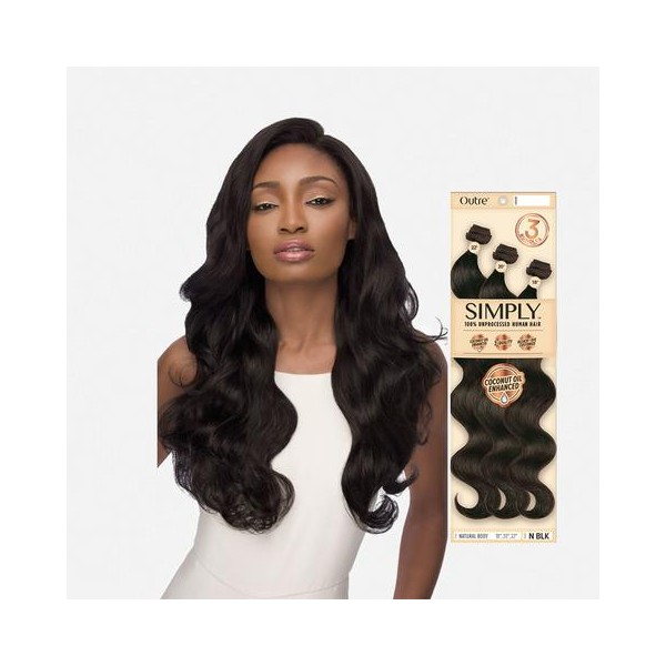 OUTRE tissage SIMPLY 3 BUNDLES NATURAL BODY pack 14'',16'',18''