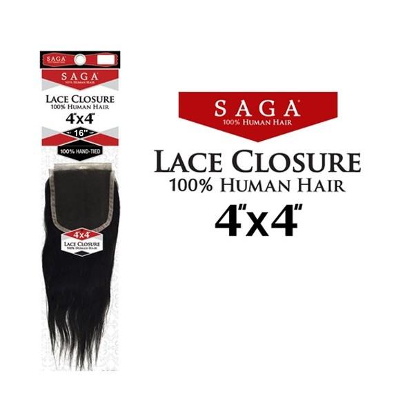 SAGA closure 4x4 YAKY 16'' (Lace)
