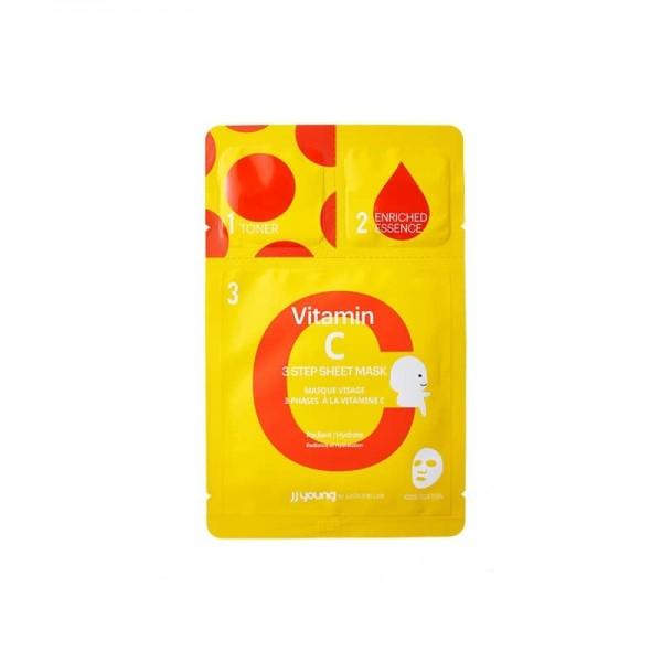 JJ YOUNG Masque Visage 3 Phases à la Vitamine C