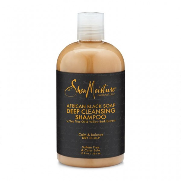 "SHEA MOISTURE Shampooing African Black Soap ""Deep Cleasing"" 384ml"