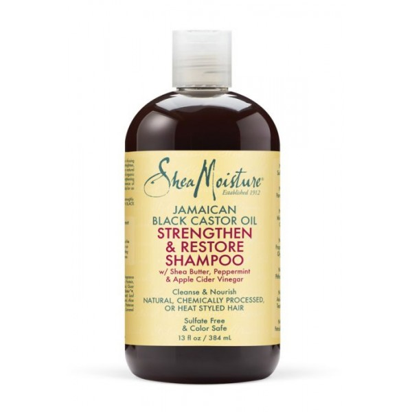 SHEA MOISTURE Shampooing Ricin Black Castor Oil 384ml (Grow & Restore)
