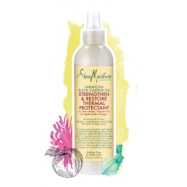 SHEA MOISTURE Spray thermo-protcteur RICIN Black Castor Oil 236ml