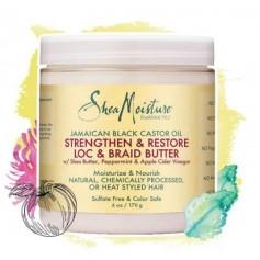 Beurre cheveux crépus ou nattés RICIN Black Castor Oil 170g (Loc & Braid)