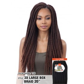 "MODEL MODEL natte 3x LARGE BOX BRAIDD 20"" (Loop)"