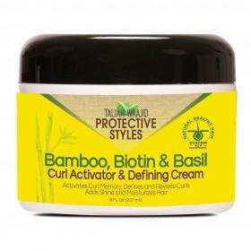 TALIAH WAAJID Crème définissante pour boucles BAMBOU, BIOTINE & BASILIC 237ml