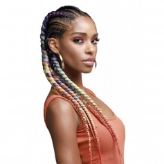BOBBI BOSS natte JUST BRAID PRE-FEATHERED 54""