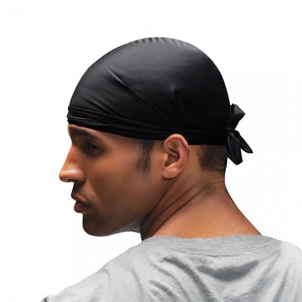 FIRSTLINE bonnet noir court Durag SPIN SHORTY DO-RAG (Wav Enforcer)