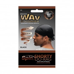 Bonnet noir court Durag SPIN SHORTY DO-RAG (Wav Enforcer)