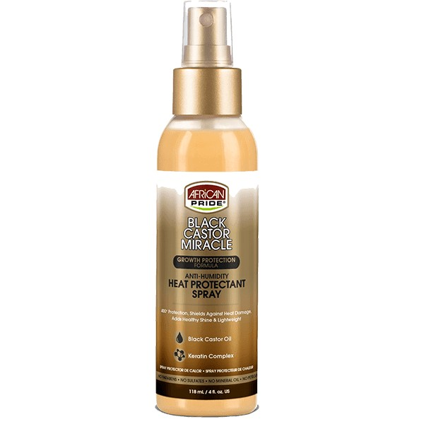 AFRICAN PRIDE Spray protection thermique RICIN/KERATINE HEAT PROTECTANT SPRAY 118ml