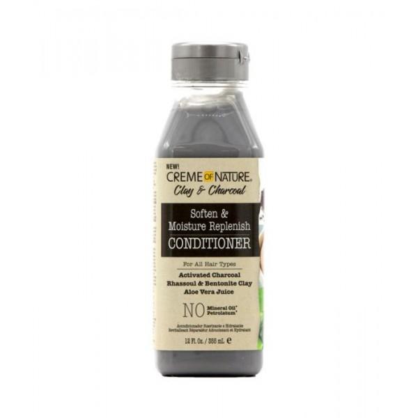 CREME OF NATURE Aprés-shampooing Revitalisant ARGILE/CHARBON/ALOE VERA 355ml (Conditioner)