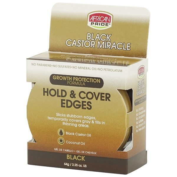 AFRICAN PRIDE Gel fixation bordures RICIN/COCO 64g (HOLD & COVER EDGES)