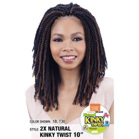 MODEL MODEL natte 2X NATURAL KINKY TWIST 10'' (Loop)