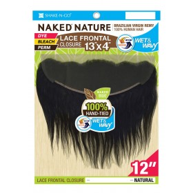 """MILKYWAY Naked Closure Lace Front Lace 13''x4"""" LOOSE CURL 12''"""
