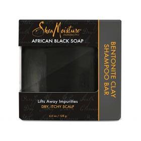 SHEA MOISTURE Shampooing solide African Black Soap 128g (Bentonite Clay Bar)