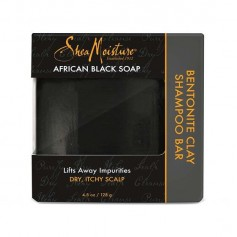 Shampooing solide African Black Soap 128g (Bentonite Clay Bar)