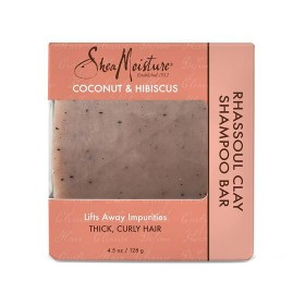 SHEA MOISTURE Shampooing solide COCO & HIBISCUS 128g (Rhassoul Clay Bar)