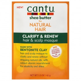 CANTU Masque clarifiant & régénérant ARGILE BENTONITE 42g (Clarify& Renew)