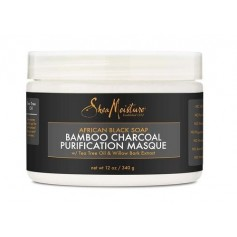 "Masque purifiant African Black Soap BAMBOU CHARBON 340g ""Purification"""