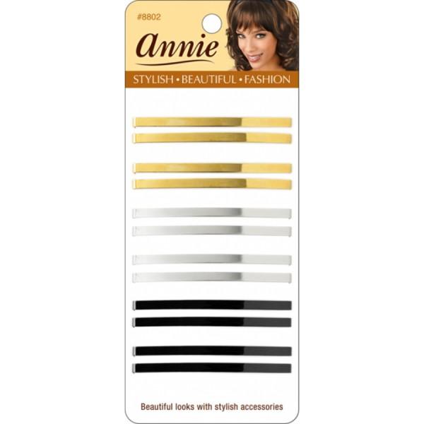 ANNIE Barrette double métal x6