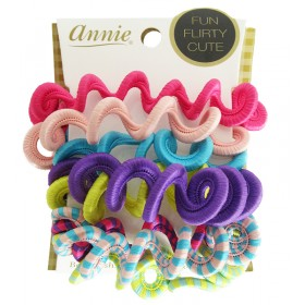 "ANNIE Elastiques cheveux x8 ""Swirl Elastic Ponytailer"""