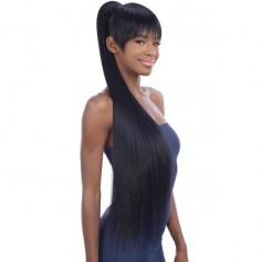 """EQUAL hairpiece + fringe LONG SLEEK YAKY 36"""" (China Bang 2pcs)"""