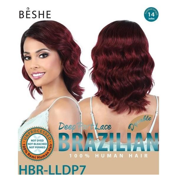 BESHE perruque brésilienne HBR LLDP7 (DEEP PART LACE)