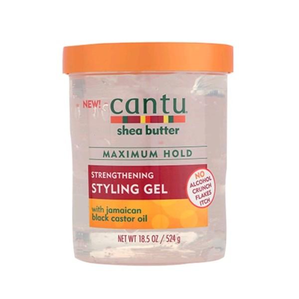 CANTU Gel fixation MAXIMALE RICIN NOIR ( Styling gel) 524g