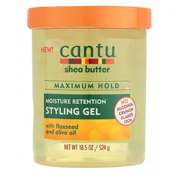 CANTU Gel fixation MAXIMALE GRAINES DE LIN & OLIVE (Styling gel) 524g
