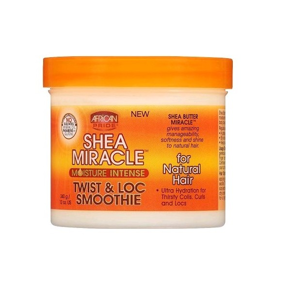 AFRICAN PRIDE Crème hydratation intense twist & locs smoothie SHEA MIRACLE 340g