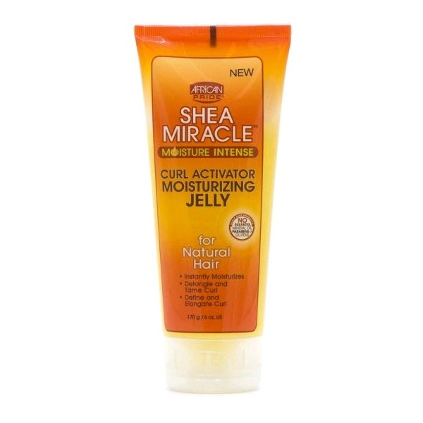 AFRICAN PRIDE Gel activateur de boucles hydratation intense SHEA MIRACLE 170g (Curl Activator Moisturizing Jelly)