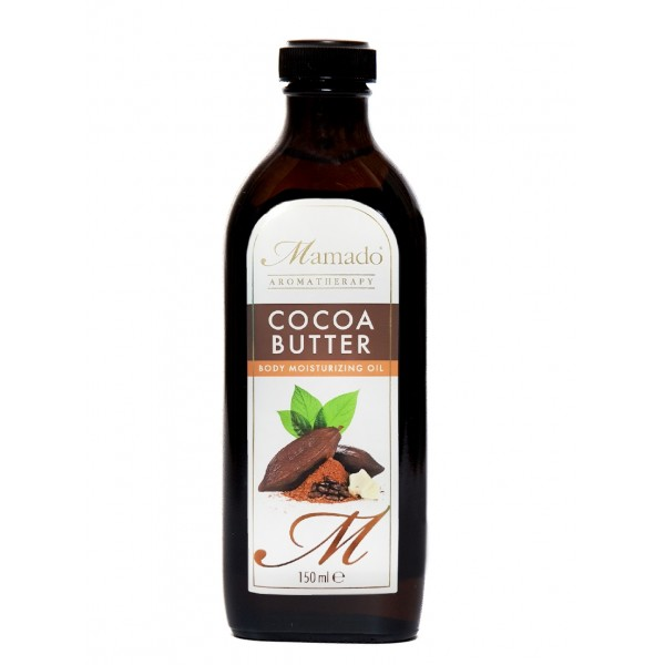 MAMADO AROMATHERAPY Huile de beurre de cacao 100% NATURELLE (Cocoa Butter) 150ml - SUPERBEAUTE.fr
