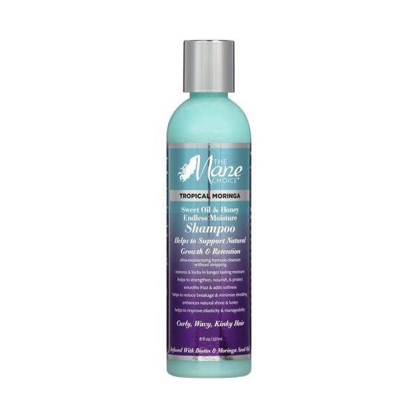 THE MANE CHOICE Shampoing BIOTIN, MIEL & MORINGA (Tropical Moringa) 237ml
