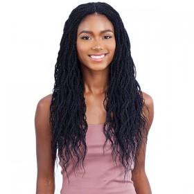EQUAL braided wig WAVY MILLION TWIST (Braided Lace Wig)